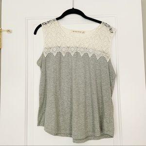 Grey Crochet Tank Top